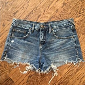 Free People Mid-Rise Jean Shorts